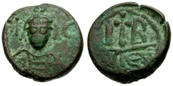Ancient Coins - Sasanian Occupation of Alexandria. Time of Heraclius. Khusro II Æ 12 Nummi