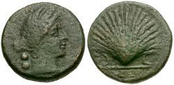 Ancient Coins - Apulia. Luceria Æ Biunx / Scallop