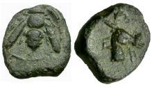 Ancient Coins - Ionia. Ephesos Æ9 / Bee