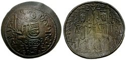 World Coins - Hungary. Bela III Æ Bracteat Follis