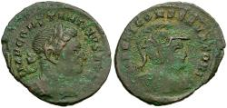 Ancient Coins - Constantine I the Great (AD 306-337) Æ Nummus / Bust of Mars
