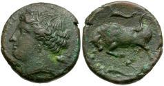 Ancient Coins - Sicily. Syracuse. Agathokles AE22 / Bull