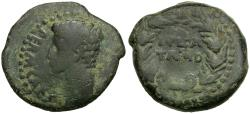 Ancient Coins - Spain. Iberia. Julia Traducta Æ25 / Wreath