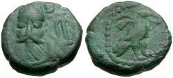 Ancient Coins - Kings of Elymais. Phraates Æ Drachm / Eagle