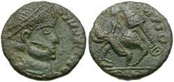 Ancient Coins - Constantius II (AD 324-361). Imitative Æ Follis / Fallen Horseman