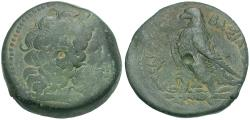 Ancient Coins - Ptolemaic Kings of Egypt. Ptolemy II Philadelphos (285-246 BC) Æ28 / Eagle
