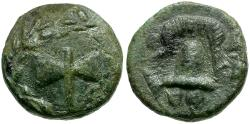 Ancient Coins - Kings of Macedon. Alexander III the Great Æ 1/4 Unit / Double Axe