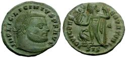 Ancient Coins - EF/EF Licinius I Æ Follis / Jupiter
