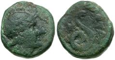 Ancient Coins - Mysia. Pergamon Æ15 / Serpent