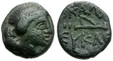 Ancient Coins - Moesia.  Kallatis Æ14 / Artemis and Quiver