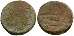 Ancient Coins - after 211 BC - Roman Republic. Anonymous Æ AS / Janus and Prow