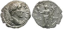 Ancient Coins - Antoninus Pius (AD 138-161) AR Denarius / Liberalitas