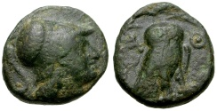Ancient Coins - Attica, Athens Æ14 / Athena / Owl