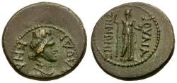 Ancient Coins - Nero. Phrygia, Laodikeia Æ18 / Aphrodite