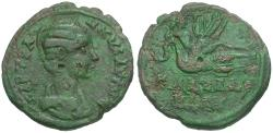 Ancient Coins - Tranquillina (AD 238-244). Bithynia. Calchedon Æ26 / Apollo on Swan