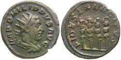 Ancient Coins - Philip I (AD 244-249) AR Antoninianus / Four Standards