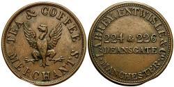 World Coins - England. Lancashire. Manchester. Labrey, Entwisle & Co.Æ Farthing