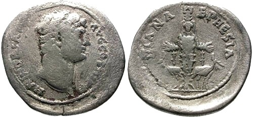 Ancient Coins - gF/gF Hadrian Cistophoric Tetradrachm Ephesus mint