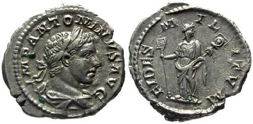 Ancient Coins - EF/EF Elagabalus Denarius / Fides