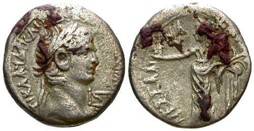 Ancient Coins - VF/VF Claudius AR Billon Tetradrachm Alexandria Egypt / Messalina