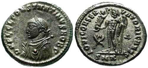 Ancient Coins - Superb EF Constantine II AE Near full Silvering