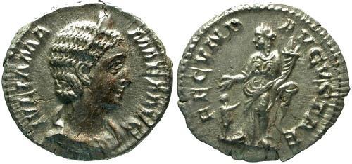 Ancient Coins - VF/VF Julia Mamaea Denarius / Fecunditas