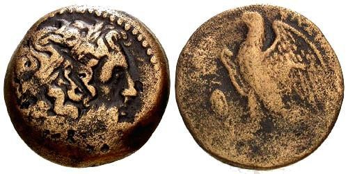 Ancient Coins - Ptolemy II AE25 / Eagle