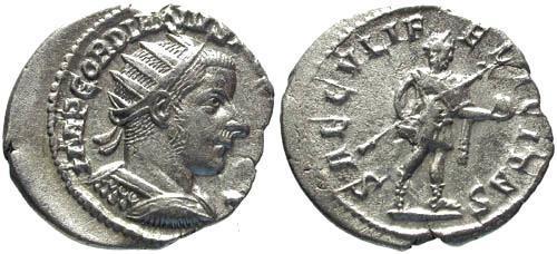 Ancient Coins - EF/EF Gordian III Antoninianus / Moustached Portrait