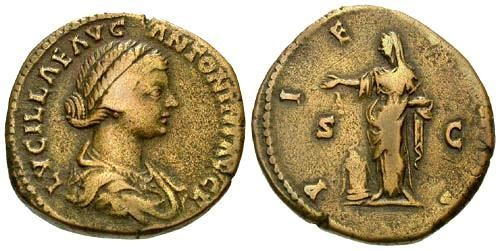 Ancient Coins - aVF/aVF Lucilla Sestertius / Pietas