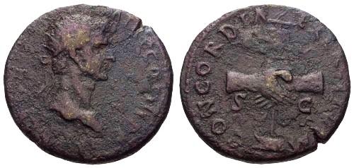 Ancient Coins - gF+/gF+ Nerva AE Dupondius / Clasped Hands