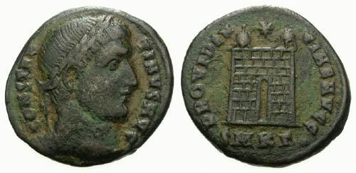 Ancient Coins - F+/F+ Constantine the Great / Campgate