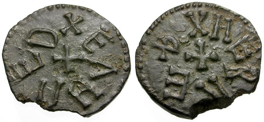 World Coins - Anglo-Saxon. Kings of Northumbria. Eanred (810-854). Herred, moneyer Æ Styca