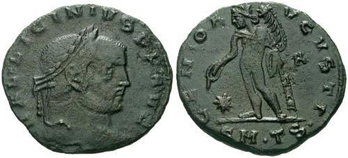 Ancient Coins - F+/aVF Licinius Follis / Genius