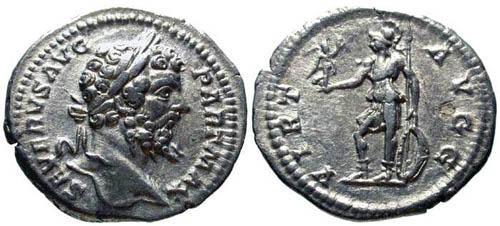 Ancient Coins - Ef/VF Septimius Severus Denarius / Roma