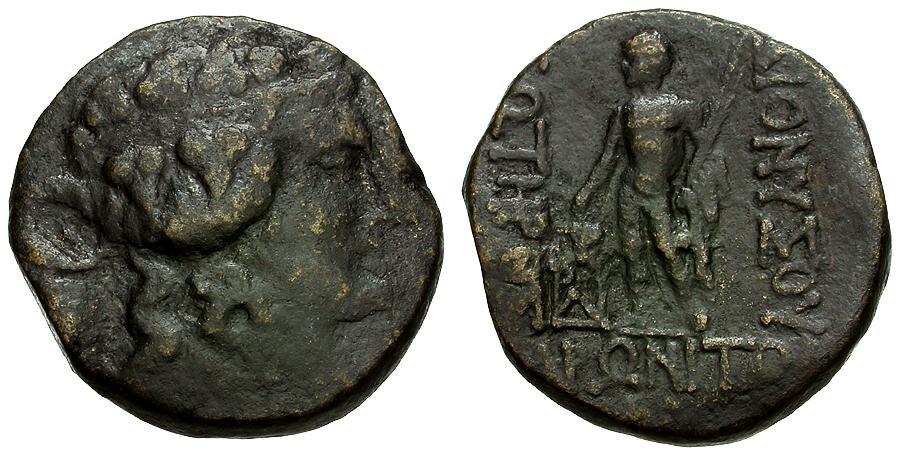 Ancient Coins - Thrace.  Maroneia Æ24 / Dionysos