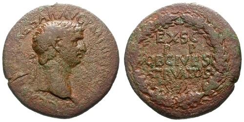 Ancient Coins - gF+/gF+ Claudius AE Sestertius / Wreath