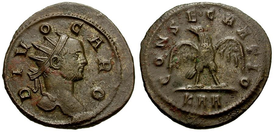 Ancient Coins - Divus Carus Æ Aurelianus / Eagle