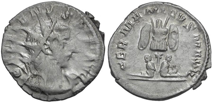 Ancient Coins - Gallienus, joint reign (AD 253-260) AR Antoninianus / German Victory