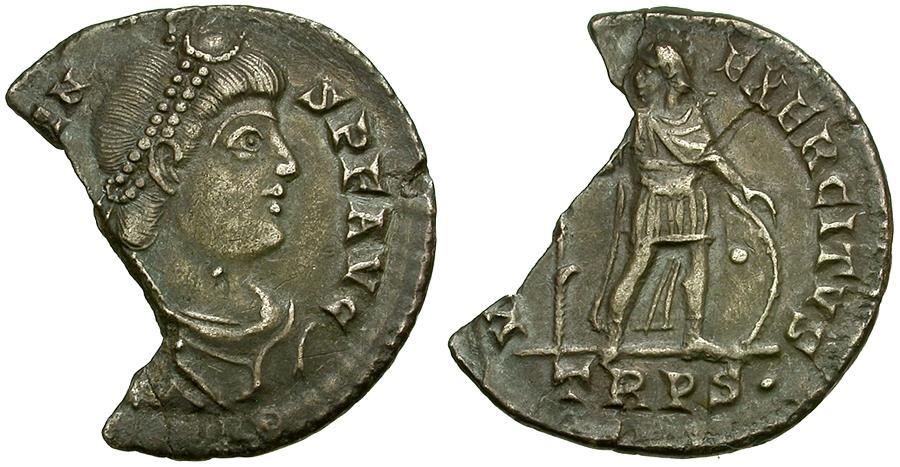 Ancient Coins - Valens AR Miliarense / Virtus