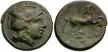 Ancient Coins - Thessaly. Skotussa Æ19 / Horse