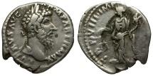 Ancient Coins - Lucius Verus AR Denarius / Aequitas