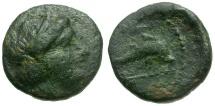Ancient Coins - Caria. Nisyros (Insel) Æ10 / Dolphin