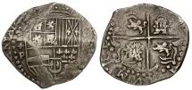 World Coins - Bolivia. Philip III AR 8 Reales Cob