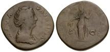 Ancient Coins - Diva Faustina I Æ Sestertius / Ceres
