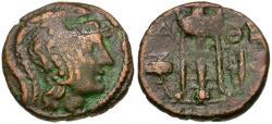 Ancient Coins - Attica. Athens. Æ18 / Tripod & Poppy