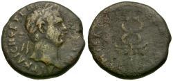 Ancient Coins - Trajan. Seleucis and Pieria. Antioch Æ Semis / Caduceus