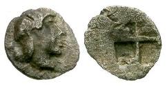 Ancient Coins - VF/VF Caria, Uncertain mint AR Tetartemorion