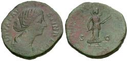 Ancient Coins - Diva Faustina II (died AD 175/6) Æ Sestertius / Diana