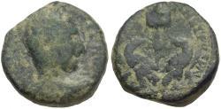 Ancient Coins - Trajan Decius (AD 249-251). Judaea. Caesarea Maritima Æ20