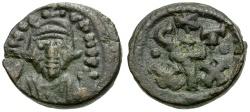 Ancient Coins - Byzantine Empire.  Constans II Æ Half Follis